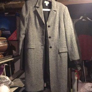Talbots petite 8 tweed jacket